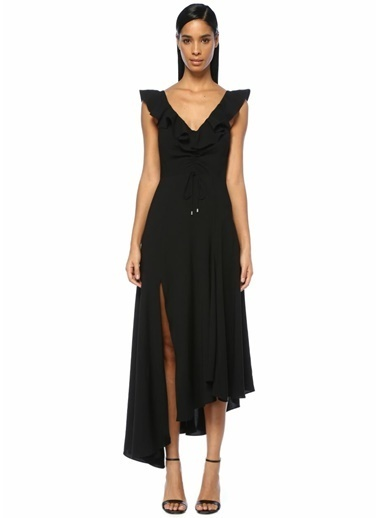 Cameo Asimetrik Kokteyl Elbisesi Siyah